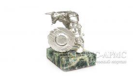 Статуэтка МЕТАЛЛИЧЕСКИЙ БЫК серебрённый